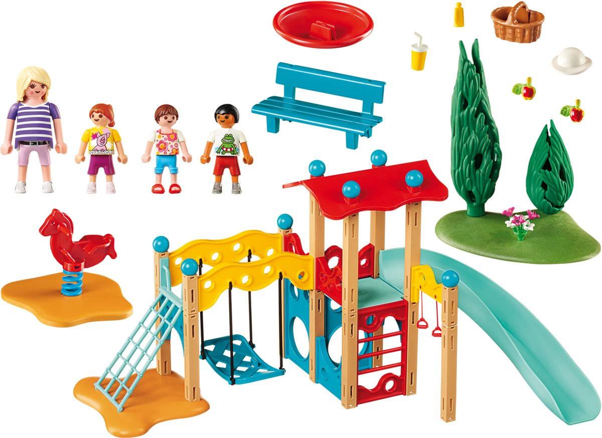 Playmobil 9423 - Grote speeltuin - inhoud van de doos