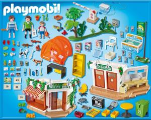 Playmobil Camping (5432) - Onderdelen in de doos